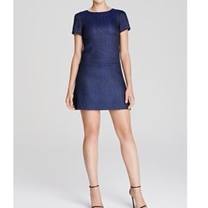 Alice + Olivia blue metallic dress Size 0